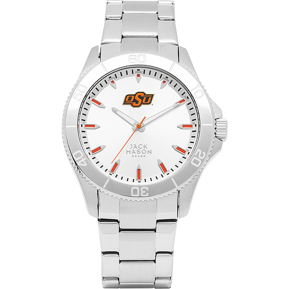 Jack Mason League NCAA Silver Dial Bracelet Watch Oklahoma State Cowboys - Jack Mason League Watches - Fashion Accessories, Watches