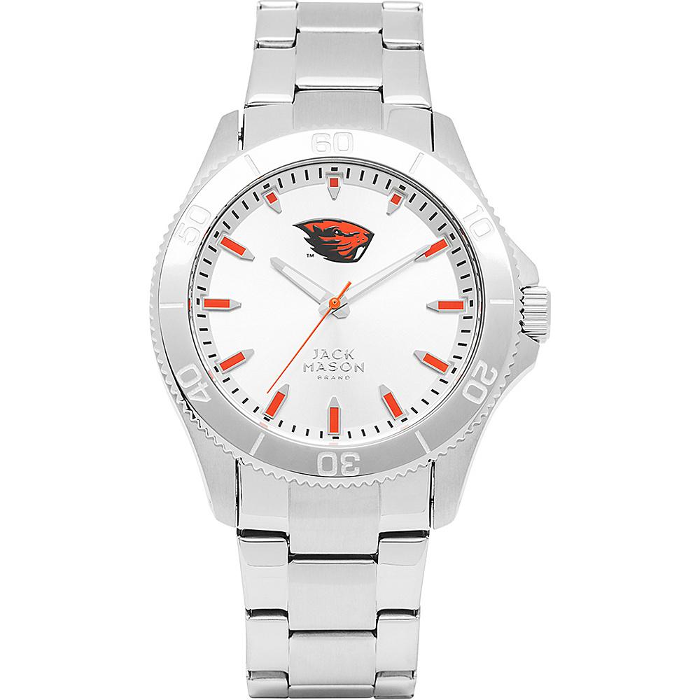Jack Mason League NCAA Silver Dial Bracelet Watch Oregon State Beavers - Jack Mason League Watches - Fashion Accessories, Watches