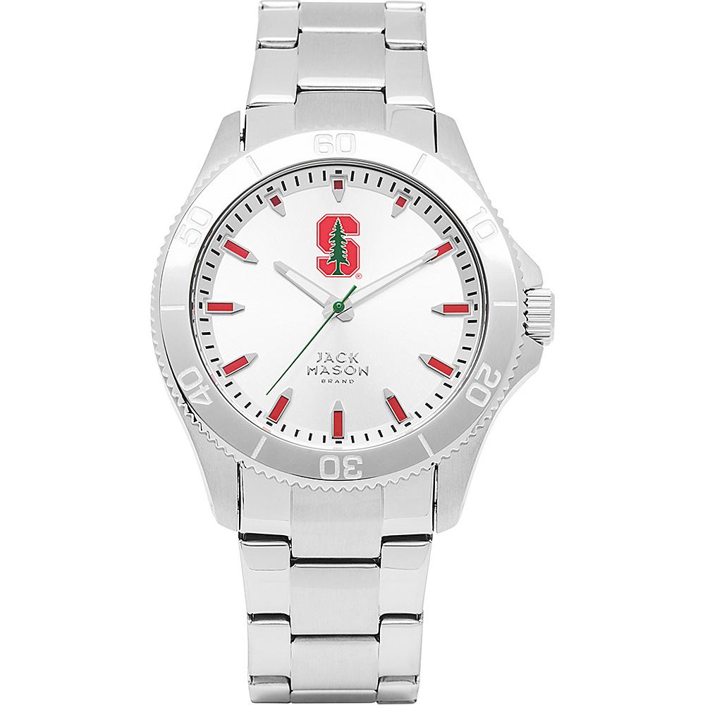 Jack Mason League NCAA Silver Dial Bracelet Watch Stanford Cardinal - Jack Mason League Watches - Fashion Accessories, Watches