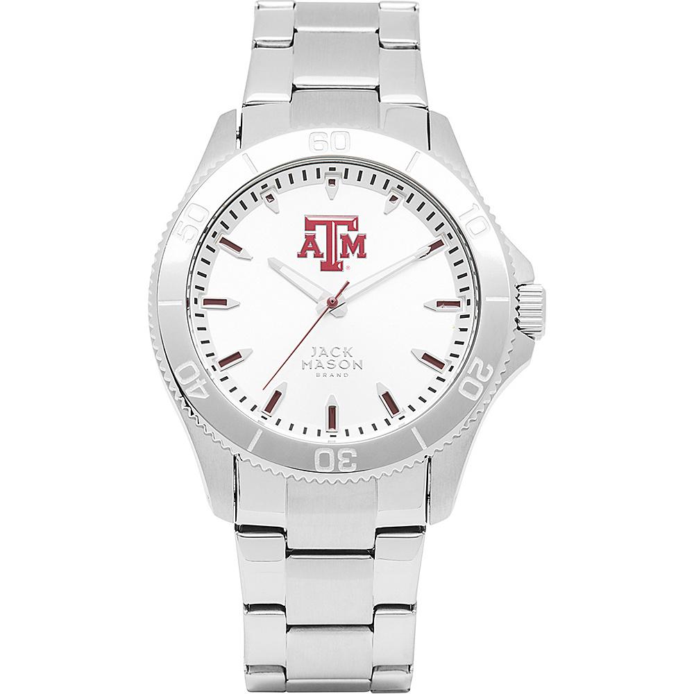 Jack Mason League NCAA Silver Dial Bracelet Watch Texas A&M Aggies - Jack Mason League Watches - Fashion Accessories, Watches