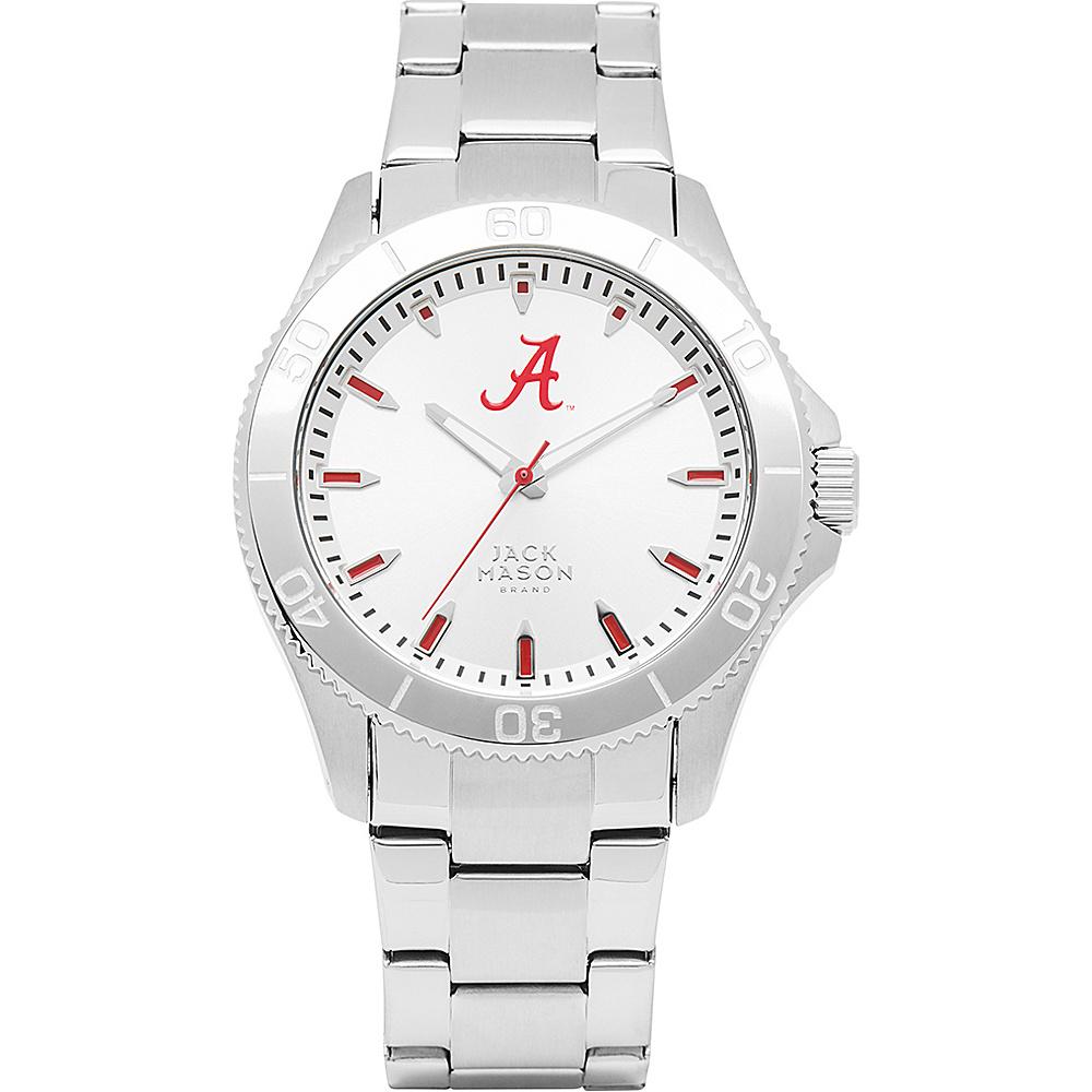 Jack Mason League NCAA Silver Dial Bracelet Watch Alabama Crimson Tide - Jack Mason League Watches - Fashion Accessories, Watches