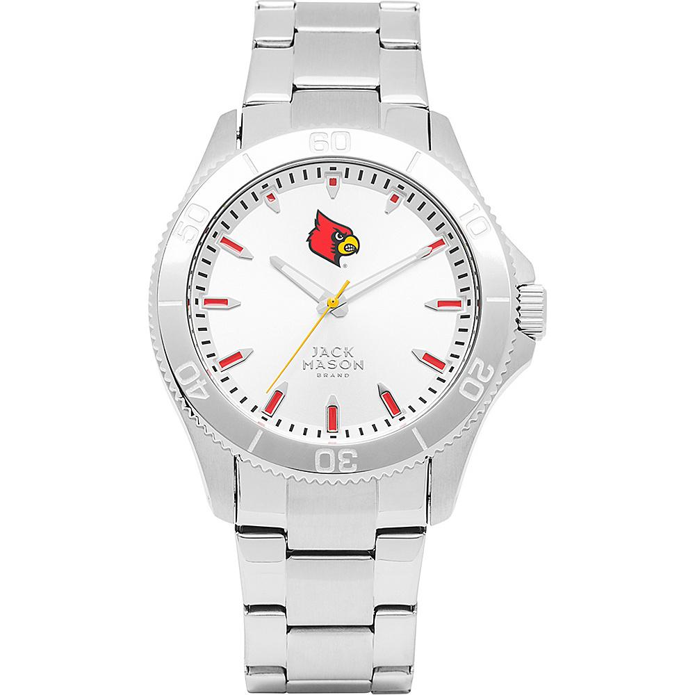 Jack Mason League NCAA Silver Dial Bracelet Watch Louisville Cardinals - Jack Mason League Watches - Fashion Accessories, Watches