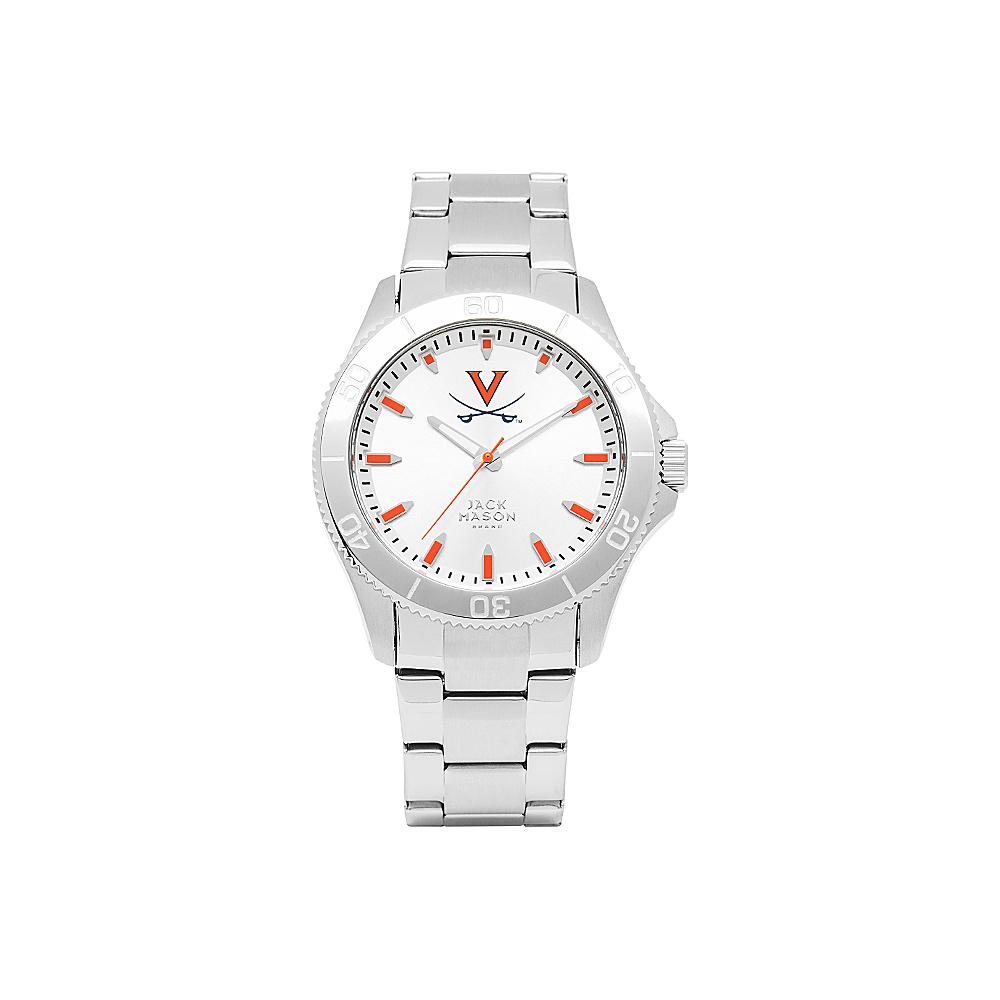 Jack Mason League NCAA Silver Dial Bracelet Watch Virginia Cavaliers - Jack Mason League Watches - Fashion Accessories, Watches