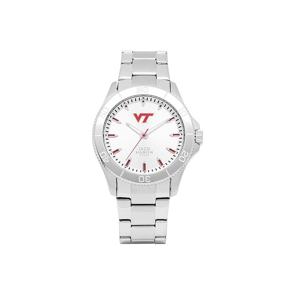 Jack Mason League NCAA Silver Dial Bracelet Watch Virginia Tech Hokies - Jack Mason League Watches - Fashion Accessories, Watches