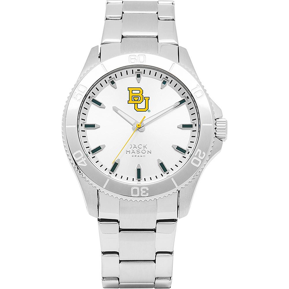Jack Mason League NCAA Silver Dial Bracelet Watch Baylor Bears - Jack Mason League Watches - Fashion Accessories, Watches