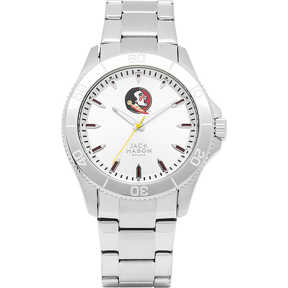 Jack Mason League NCAA Silver Dial Bracelet Watch Florida State Seminoles - Jack Mason League Watches - Fashion Accessories, Watches