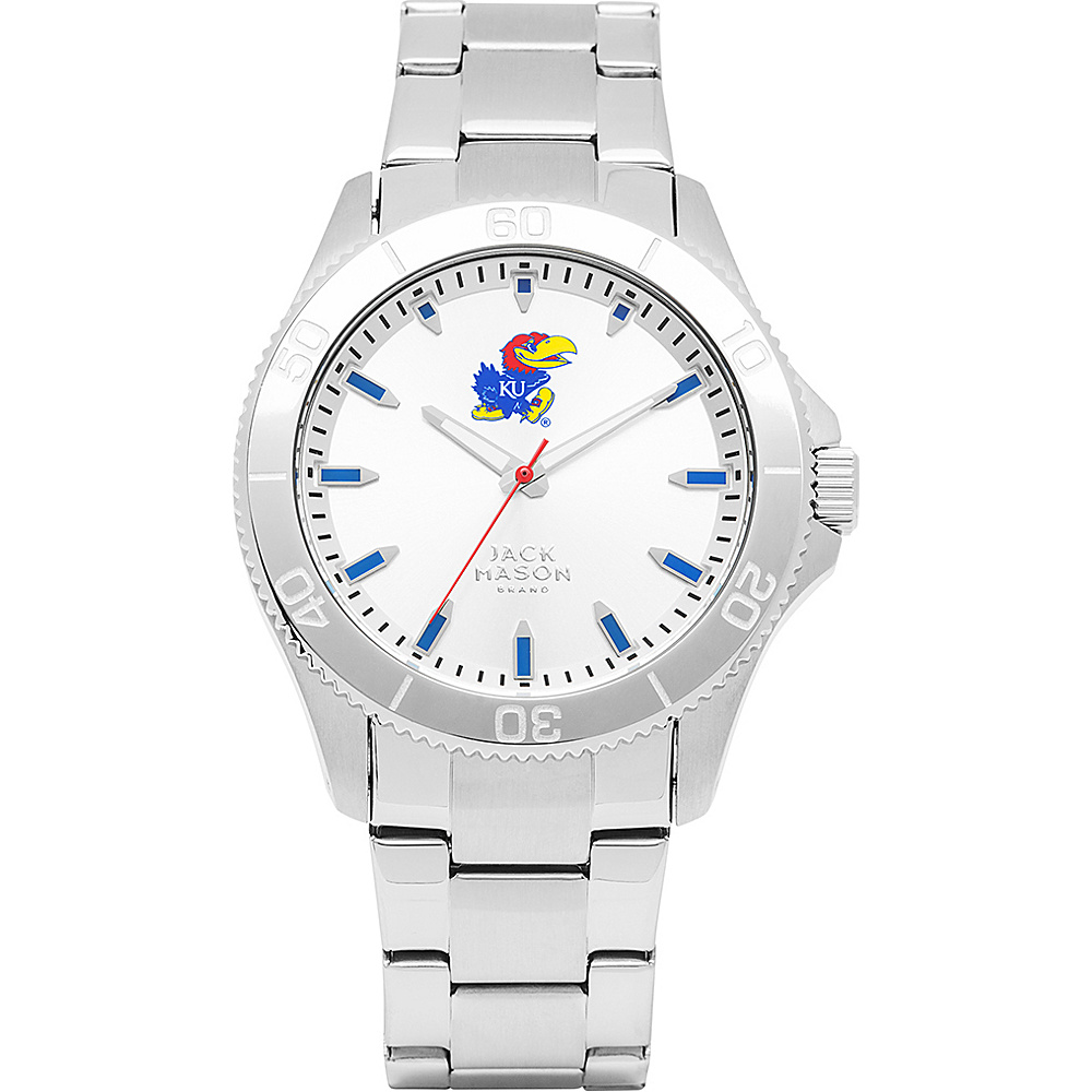 Jack Mason League NCAA Silver Dial Bracelet Watch Kansas Jayhawks - Jack Mason League Watches - Fashion Accessories, Watches