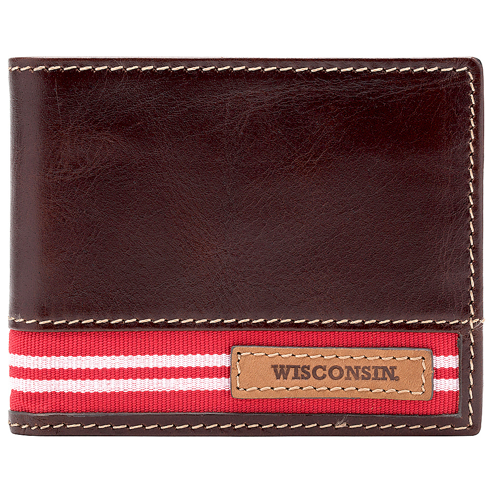 Jack Mason League NCAA Tailgate Traveler Wisconsin Badgers - Jack Mason League Mens Wallets - Work Bags & Briefcases, Men's Wallets
