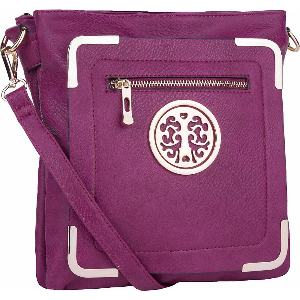 MKF Collection by Mia K. Farrow Courier Fun to Wear Crossbody Purple - MKF Collection by Mia K. Farrow Manmade Handbags - Handbags, Manmade Handbags