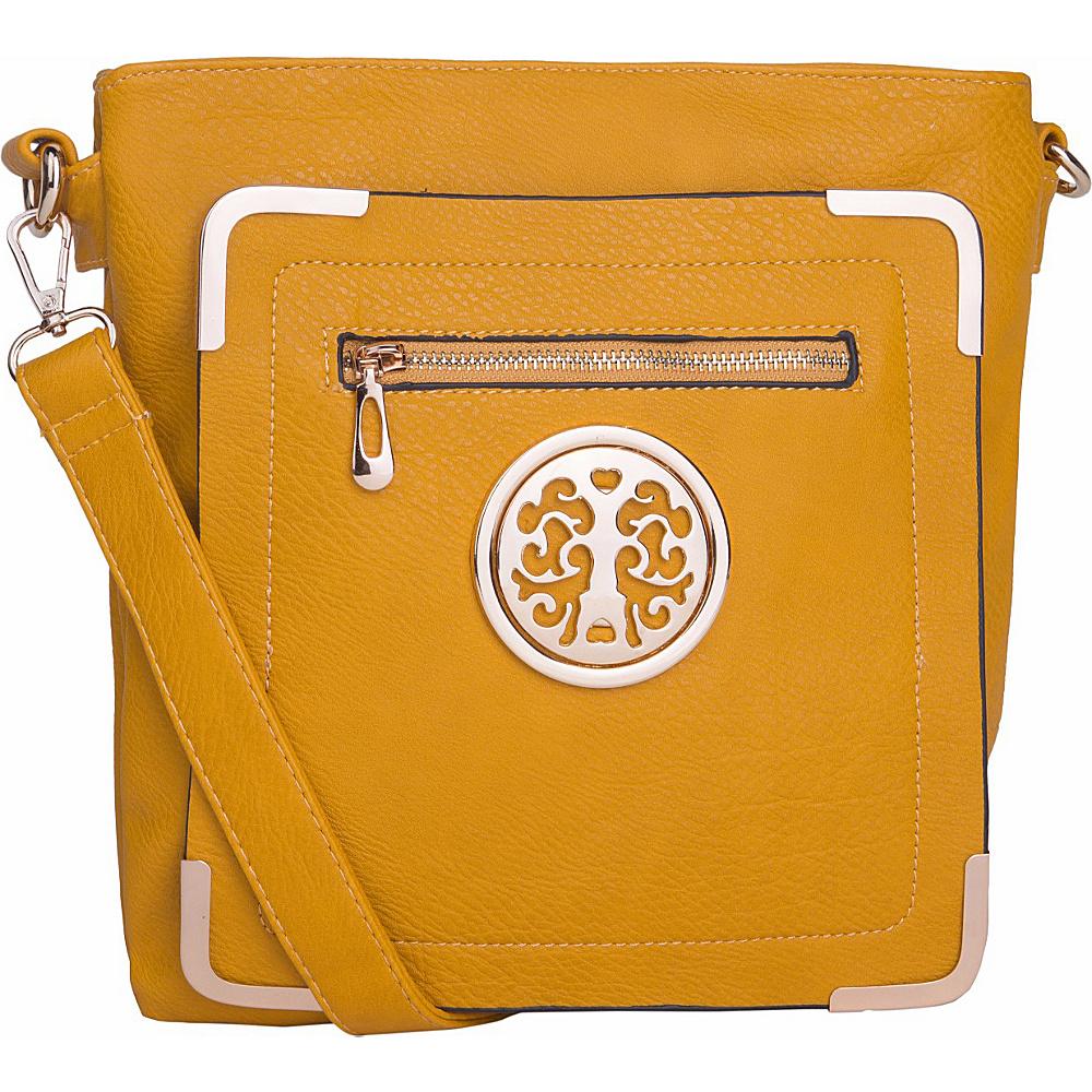 MKF Collection by Mia K. Farrow Courier Fun to Wear Crossbody Yellow - MKF Collection by Mia K. Farrow Manmade Handbags - Handbags, Manmade Handbags