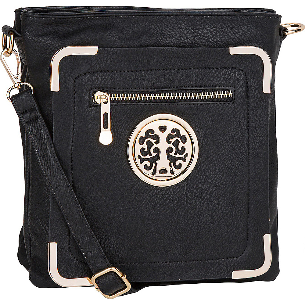 MKF Collection by Mia K. Farrow Courier Fun to Wear Crossbody Black - MKF Collection by Mia K. Farrow Manmade Handbags - Handbags, Manmade Handbags