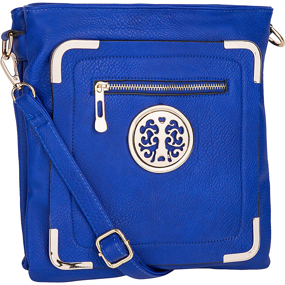 MKF Collection by Mia K. Farrow Courier Fun to Wear Crossbody Blue - MKF Collection by Mia K. Farrow Manmade Handbags - Handbags, Manmade Handbags