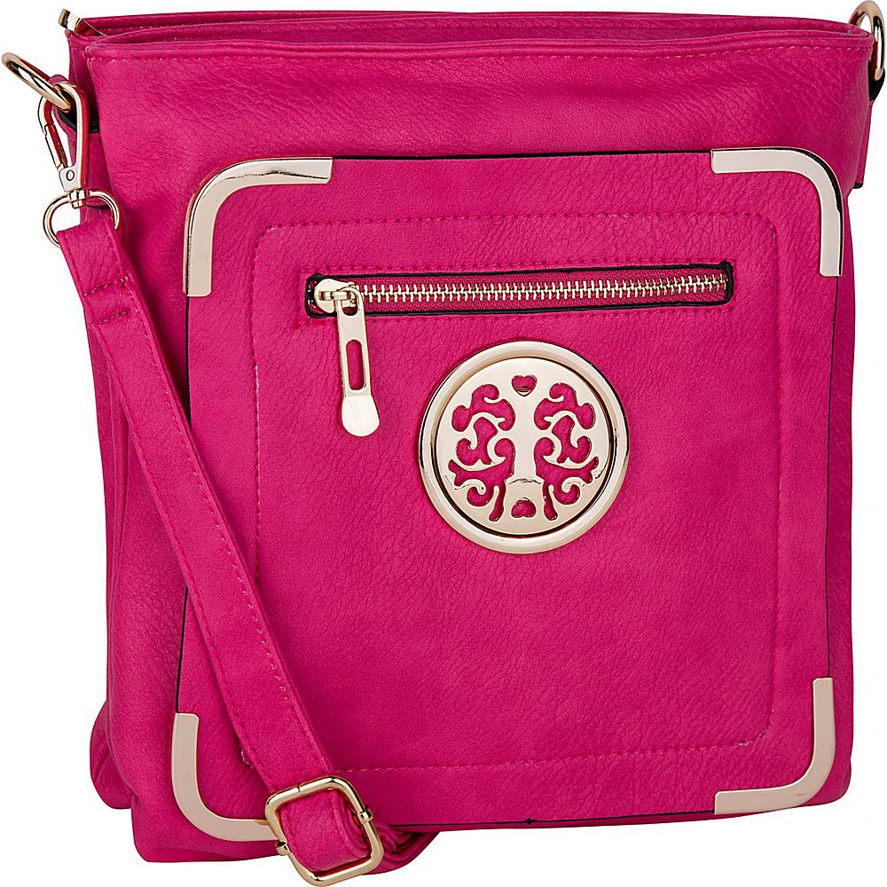MKF Collection Courier Fun to Wear Crossbody Fuchsia - MKF Collection Manmade Handbags - Handbags, Manmade Handbags