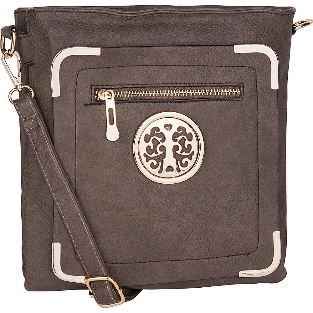 MKF Collection Courier Fun to Wear Crossbody Khaki - MKF Collection Manmade Handbags - Handbags, Manmade Handbags
