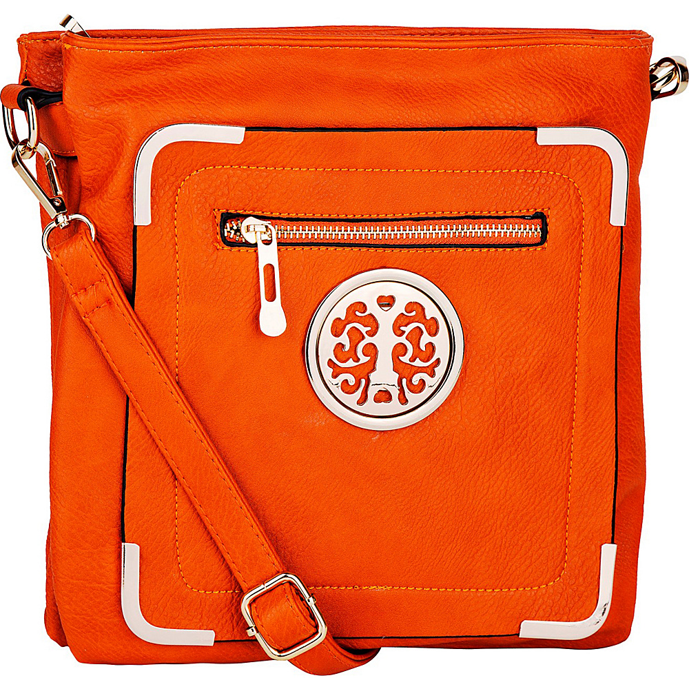 MKF Collection by Mia K. Farrow Courier Fun to Wear Crossbody Orange - MKF Collection by Mia K. Farrow Manmade Handbags - Handbags, Manmade Handbags
