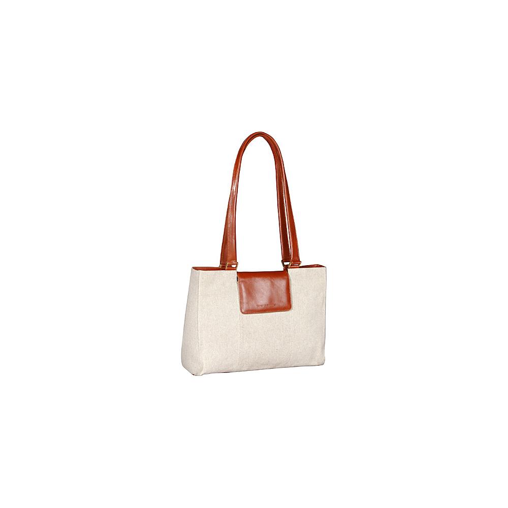 Derek Alexander Tab Closure EW Tote Natural/Tan - Derek Alexander Fabric Handbags - Handbags, Fabric Handbags