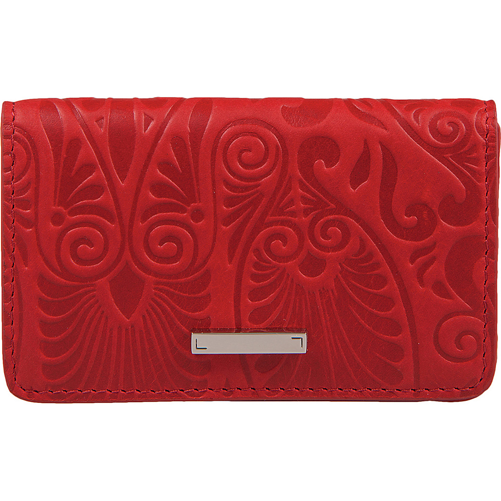 Lodis Denia Mini Card Case Red - Lodis Womens Wallets - Women's SLG, Women's Wallets