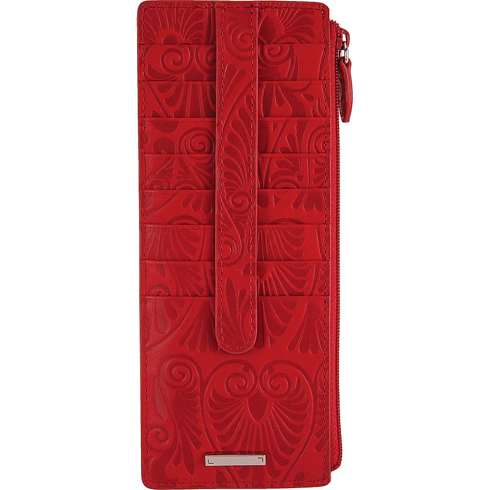 Lodis Denia Credit Card Case with Zipper Pocket Red - Lodis Womens Wallets - Women's SLG, Women's Wallets