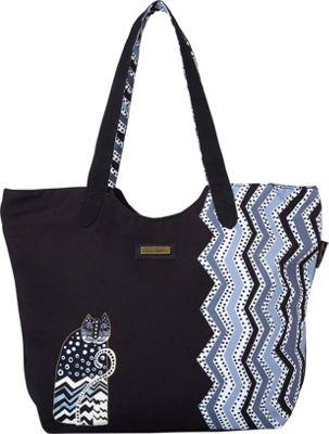 Laurel Burch Polka Dot Gatos Scoop Tote Polka Dot Gatos - Laurel Burch Fabric Handbags
