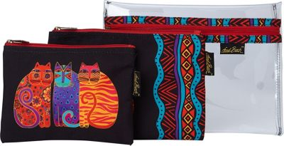 Laurel Burch Feline Friends Set of 3 Cosmetic Bags Feline...
