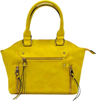 MoDa Apollo Goddess Classic Shoulder Handbag Yellow - MoDa Manmade Handbags
