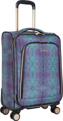 Aimee Kestenberg Sydney 20 inch Expandable Carry-On Spinner Marine Python - Aimee Kestenberg Softside Carry-On