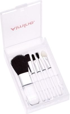 Glamour Status 5 Piece Travel Brush Set White - Glamour Status Travel Comfort and Health