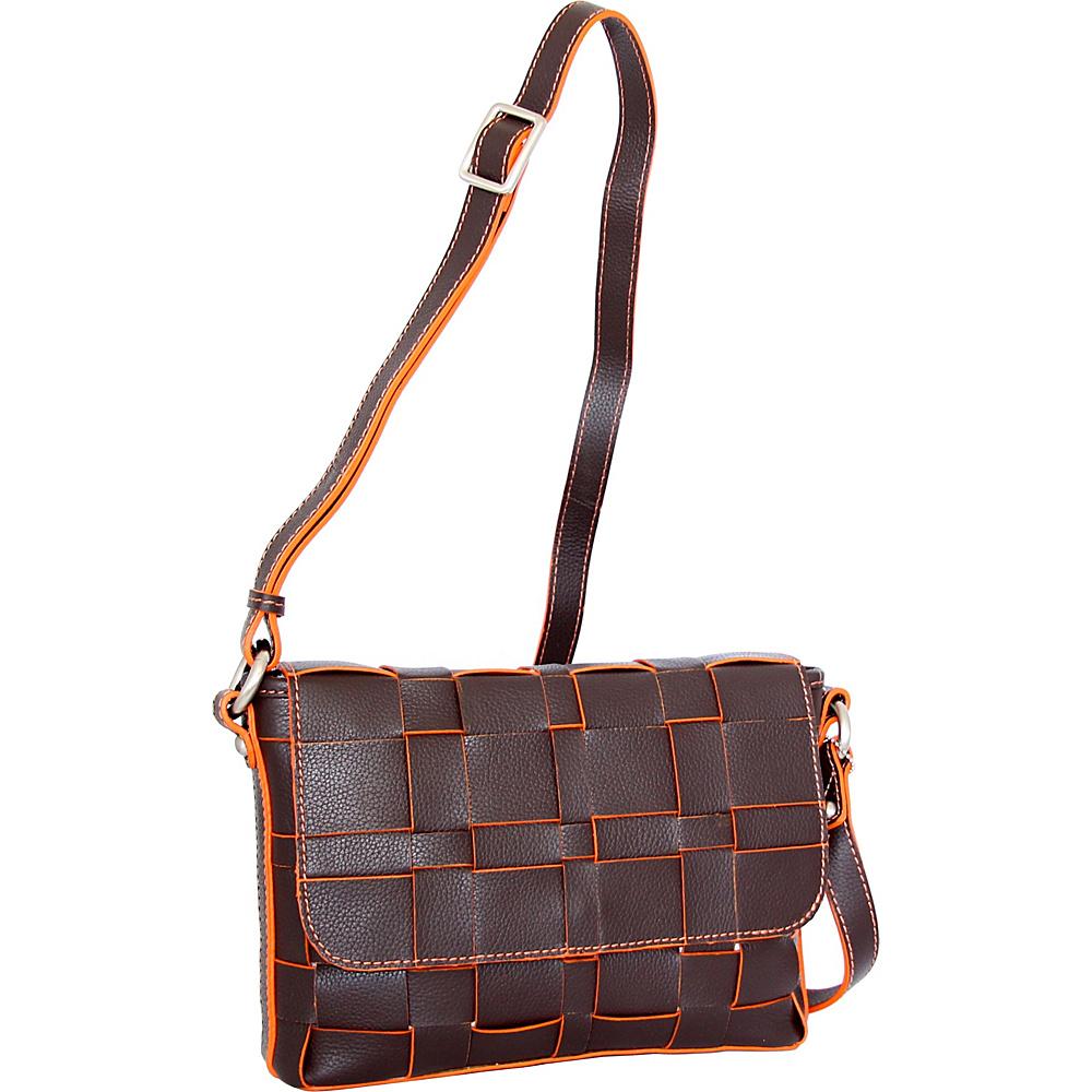 Nino Bossi Christina Crossbody Chocolate - Nino Bossi Leather Handbags - Handbags, Leather Handbags