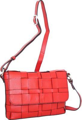 Nino Bossi Christina Crossbody Red - Nino Bossi Leather Handbags