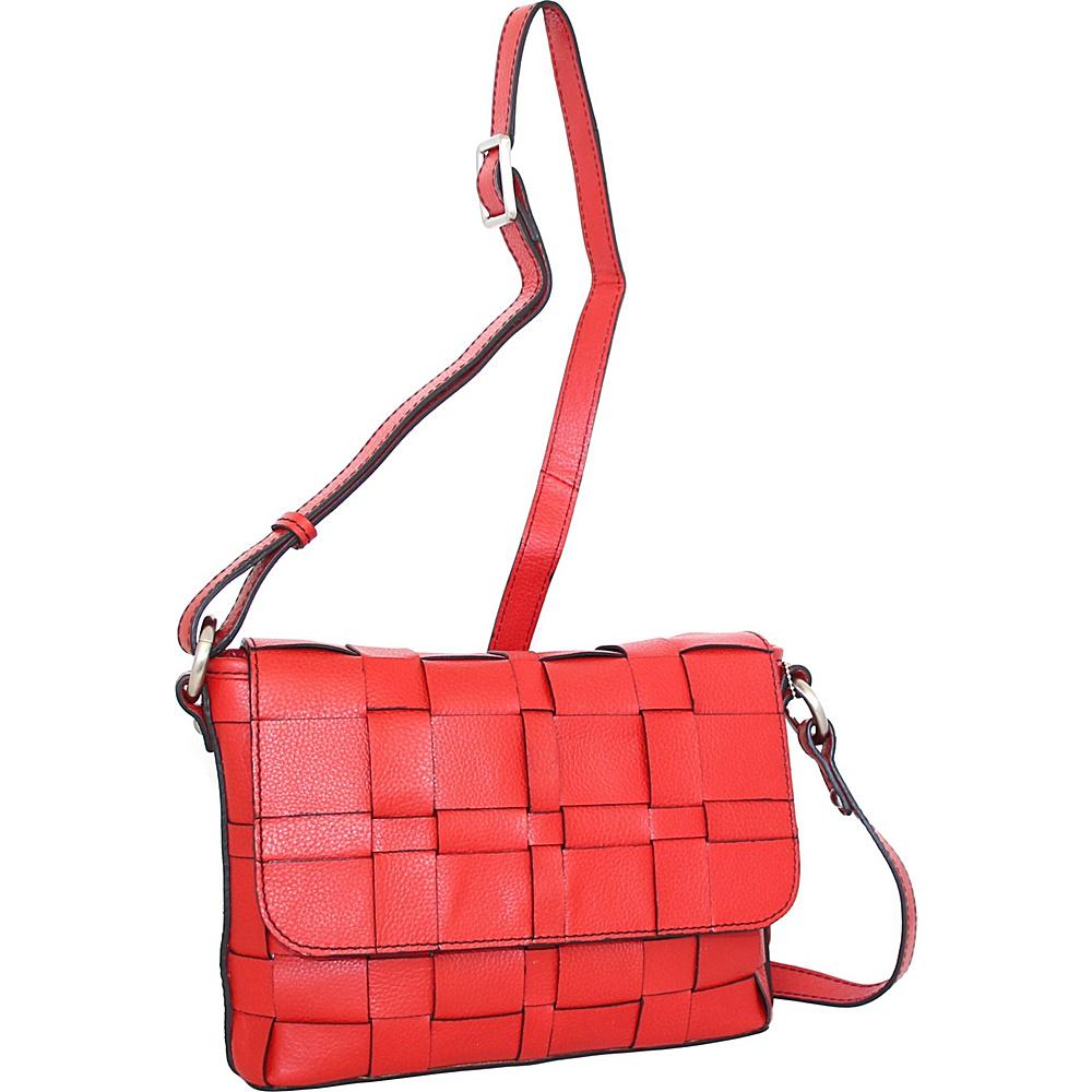 Nino Bossi Christina Crossbody Red - Nino Bossi Leather Handbags - Handbags, Leather Handbags