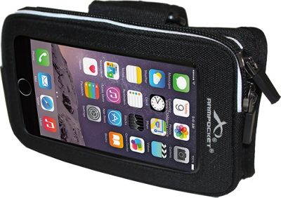 Armpocket Wrister Band for Devices up to 5.7 inch - Small/Medium Strap Length Black - Armpocket Electronic Cases