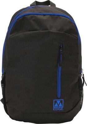 M-Edge Flex Backpack with Battery Black/Blue - M-Edge Business & Laptop Backpacks