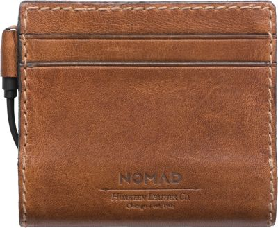 Nomad Mens Leather Charging Slim Wallet Brown - Nomad Men's Wallets