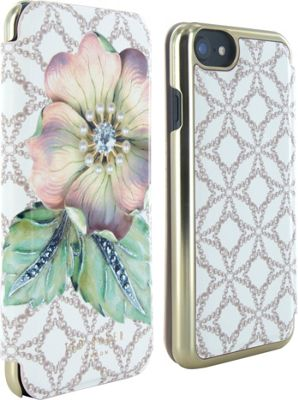Ted Baker iPhone 6 & 7 Mirror Folio Case Mavis Gem Garden - Ted Baker Electronic Cases