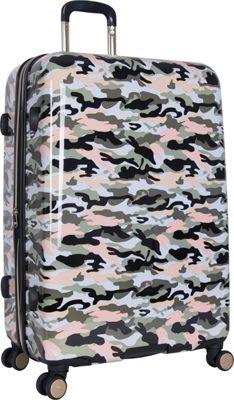 Aimee Kestenberg Sergeant 28 inch Hardside Spinner Green Camo - Aimee Kestenberg Large Rolling Luggage