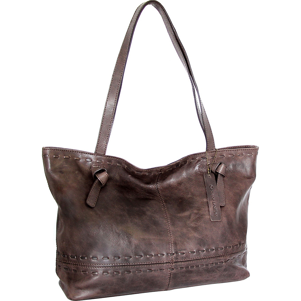 Nino Bossi Tricia Tote Chocolate - Nino Bossi Leather Handbags - Handbags, Leather Handbags