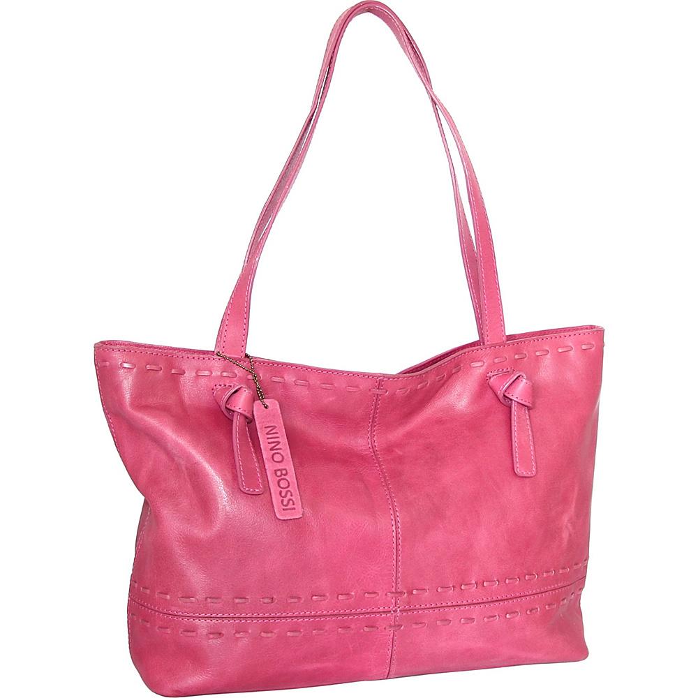Nino Bossi Tricia Tote Fuchsia - Nino Bossi Leather Handbags - Handbags, Leather Handbags
