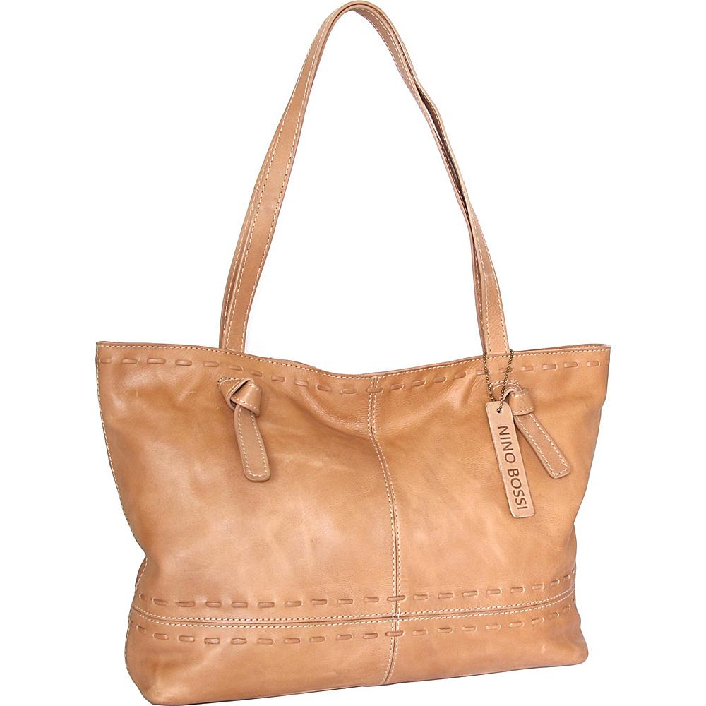Nino Bossi Tricia Tote Nut - Nino Bossi Leather Handbags - Handbags, Leather Handbags