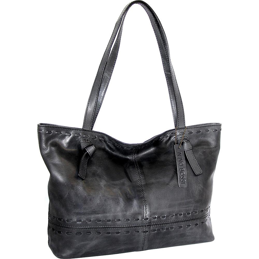 Nino Bossi Tricia Tote Black - Nino Bossi Leather Handbags - Handbags, Leather Handbags