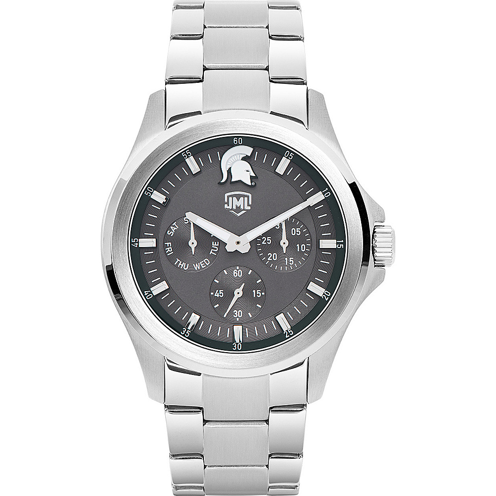 Jack Mason League Mens NCAA Silver Multifunction Watch Michigan State - Jack Mason League Watches - Fashion Accessories, Watches
