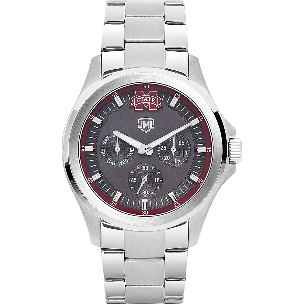 Jack Mason League Mens NCAA Silver Multifunction Watch Mississippi State - Jack Mason League Watches - Fashion Accessories, Watches