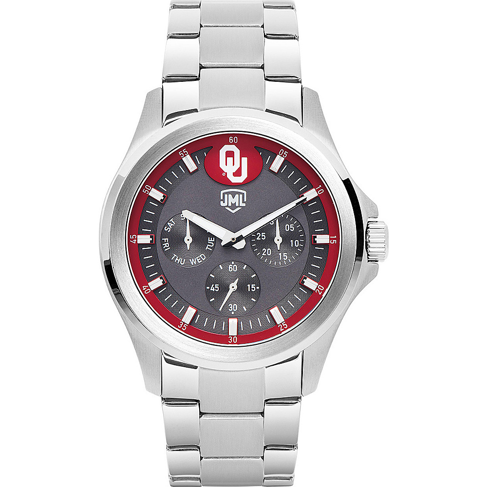 Jack Mason League Mens NCAA Silver Multifunction Watch Oklahoma - Jack Mason League Watches - Fashion Accessories, Watches
