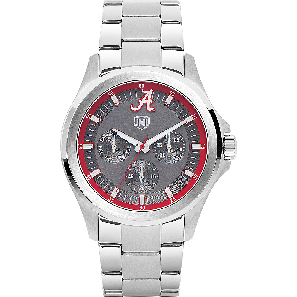 Jack Mason League Mens NCAA Silver Multifunction Watch Alabama - Jack Mason League Watches - Fashion Accessories, Watches