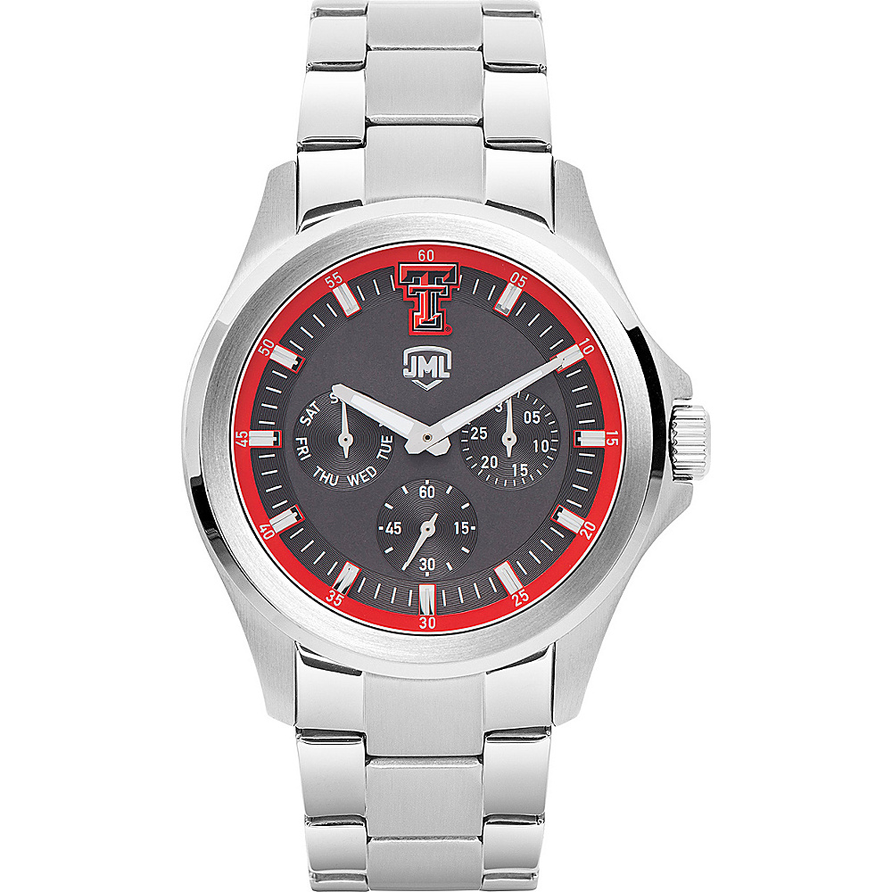 Jack Mason League Mens NCAA Silver Multifunction Watch Texas Tech - Jack Mason League Watches - Fashion Accessories, Watches