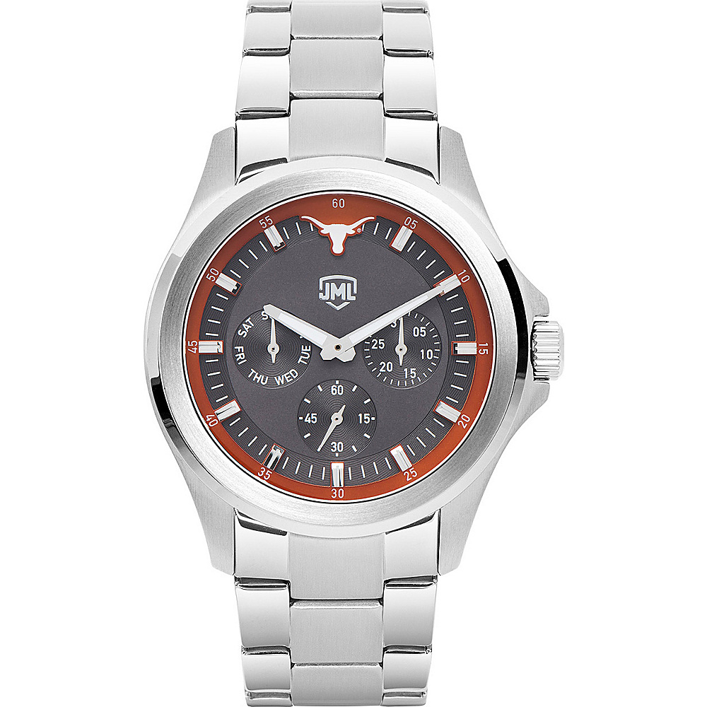 Jack Mason League Mens NCAA Silver Multifunction Watch Texas - Jack Mason League Watches - Fashion Accessories, Watches