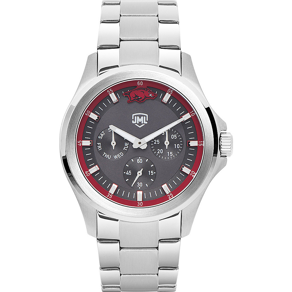 Jack Mason League Mens NCAA Silver Multifunction Watch Arkansas - Jack Mason League Watches - Fashion Accessories, Watches