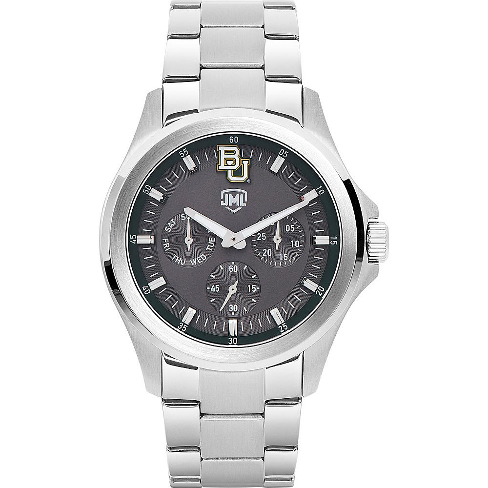 Jack Mason League Mens NCAA Silver Multifunction Watch Baylor - Jack Mason League Watches - Fashion Accessories, Watches