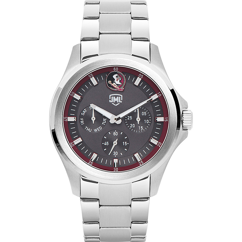 Jack Mason League Mens NCAA Silver Multifunction Watch Florida State - Jack Mason League Watches - Fashion Accessories, Watches