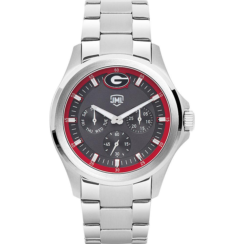 Jack Mason League Mens NCAA Silver Multifunction Watch Georgia - Jack Mason League Watches - Fashion Accessories, Watches