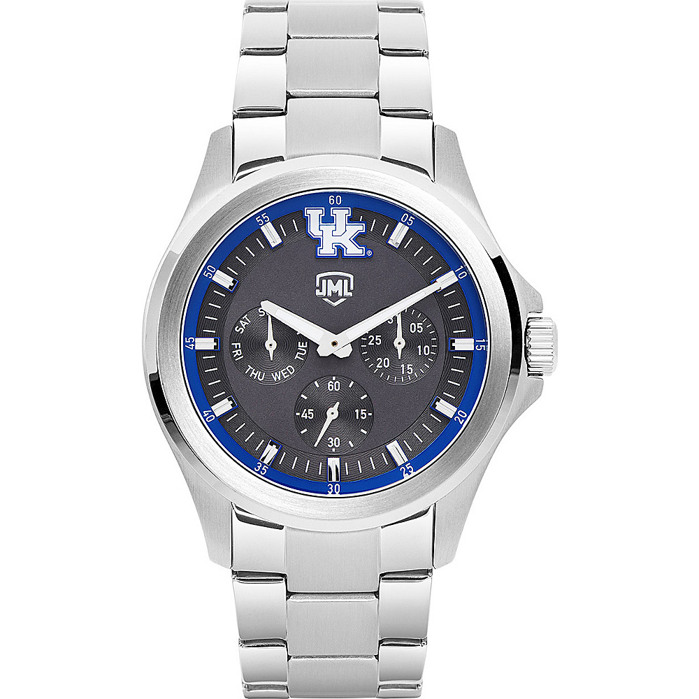 Jack Mason League Mens NCAA Silver Multifunction Watch Kentucky - Jack Mason League Watches - Fashion Accessories, Watches
